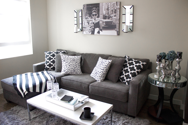 Black, White & Gray Apartment Decor