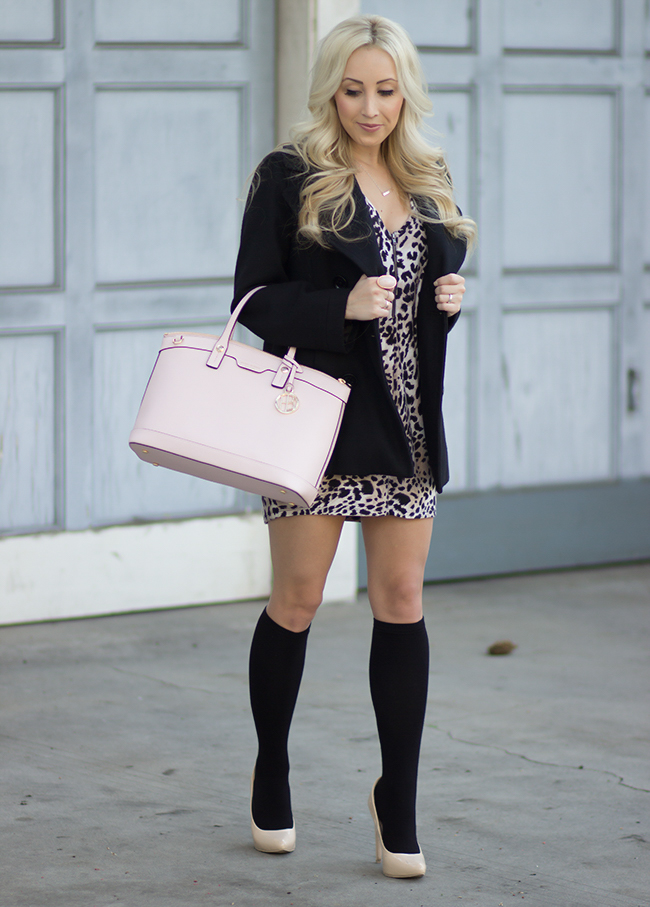 Coat: Michael Kors | Bag: Henri Bendel | Tunic: Forever 21