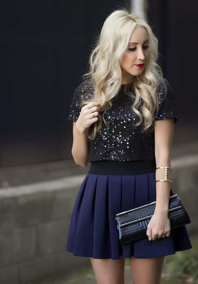 Sequined Top & Skirt: Forever 21