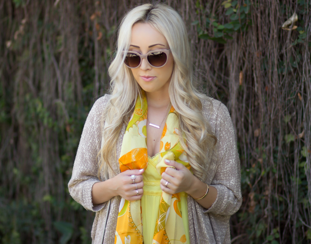 Spring Scarf & Yellow Dress