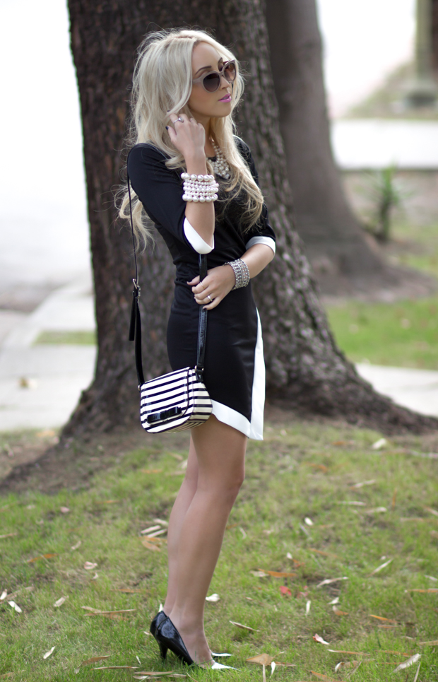 Black and White Point Dress || StyledByBlondie.com