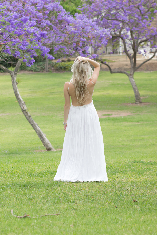 White Bohemian Maxi Dress | Styledbyblondie.com
