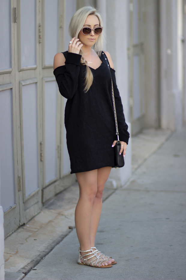 Cutout Sweater Dress | Styledbyblondie.com