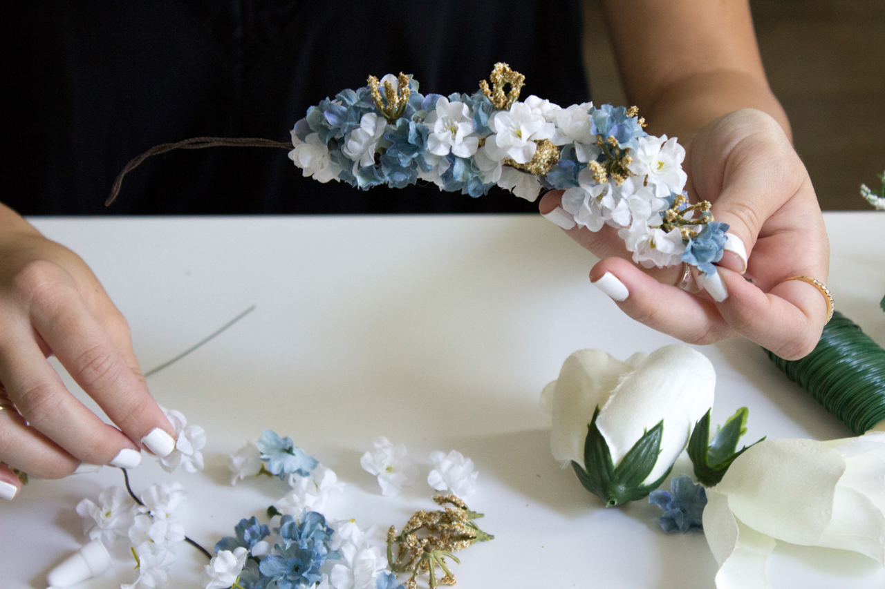DIY Flower Crown | Styledbyblondie.com