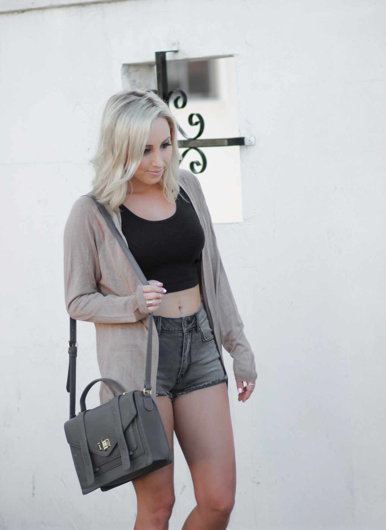 Crop top & a Loose Sweater | StyledByBlondie.com