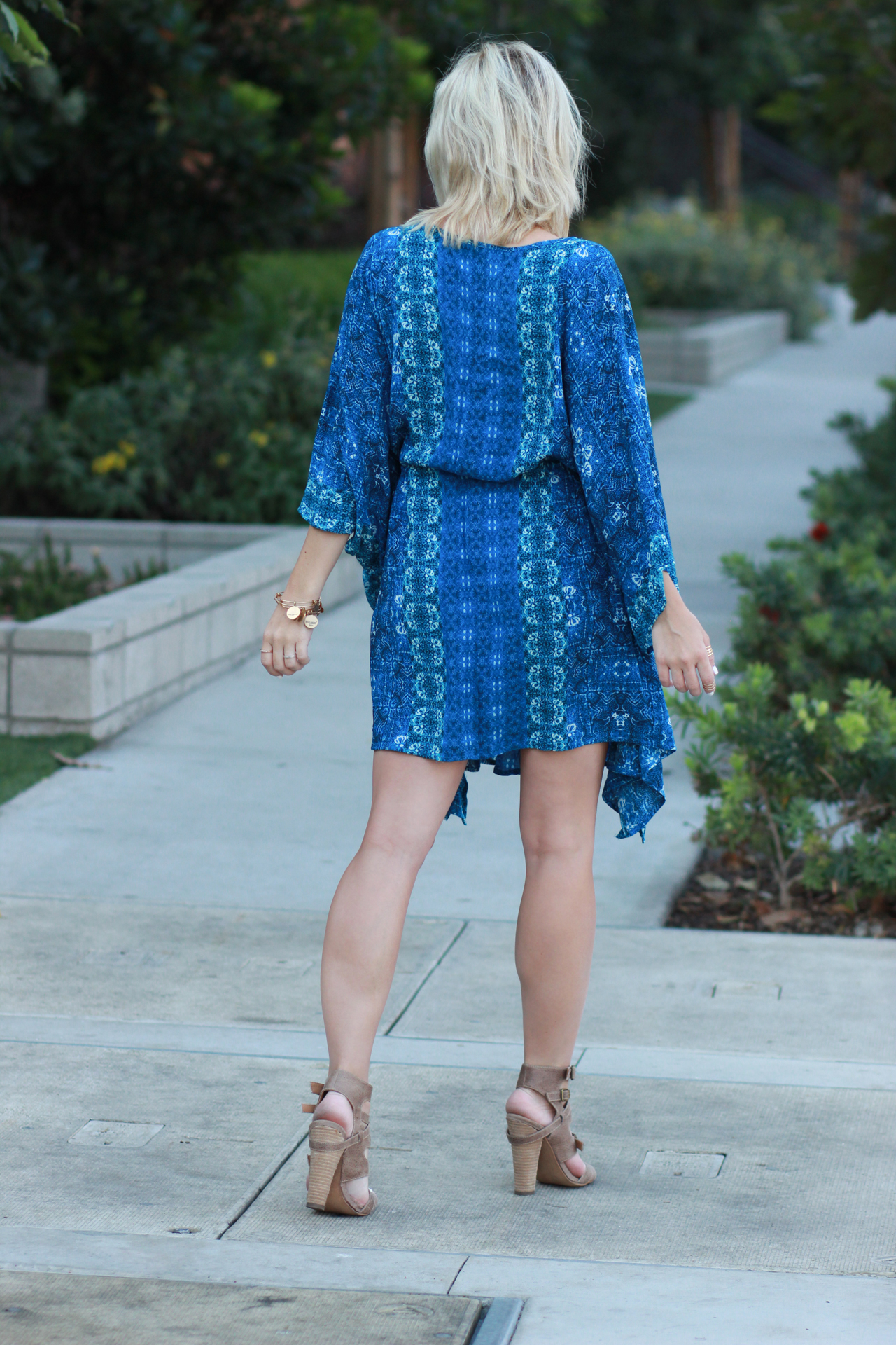 Blue Caftan Dress from Forever 21 | StyledByBlondie.com