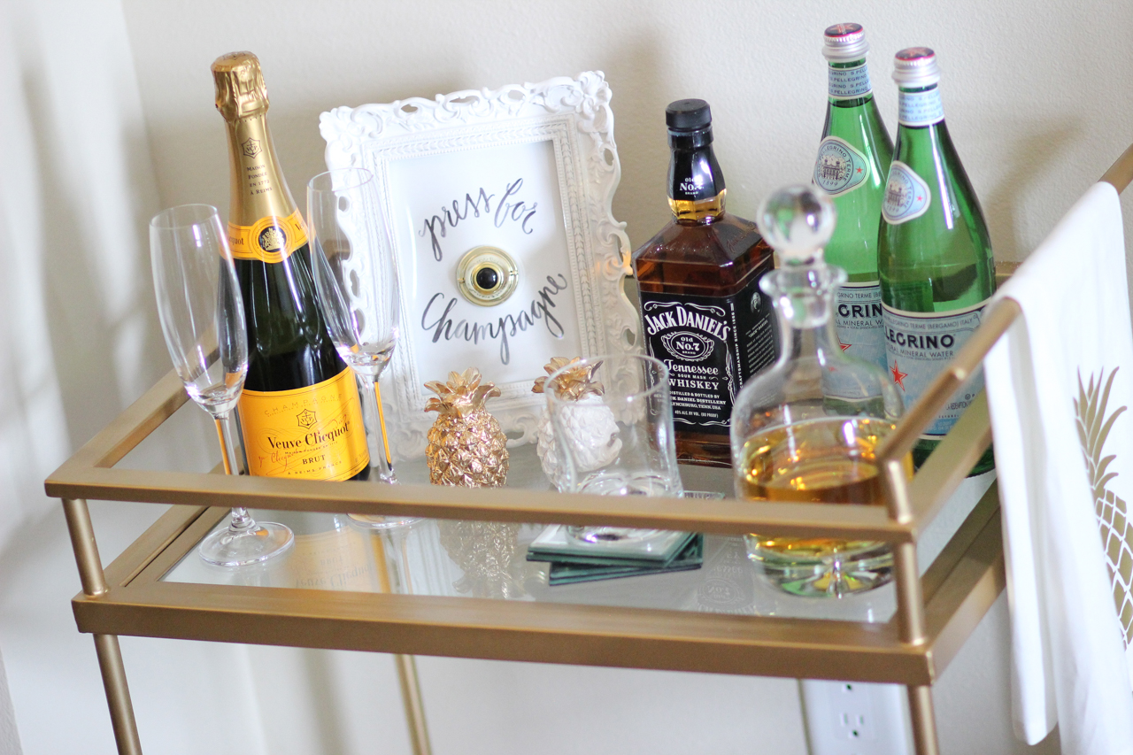 How To Style a Bar Cart | StyledbyBlondie.com