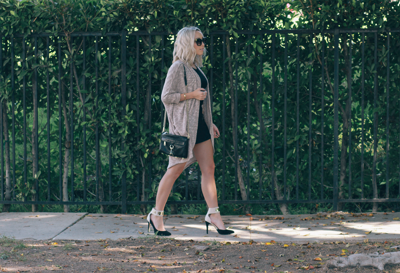 Little Black Dress w/ a Cardigan | StyledByBlondie.com