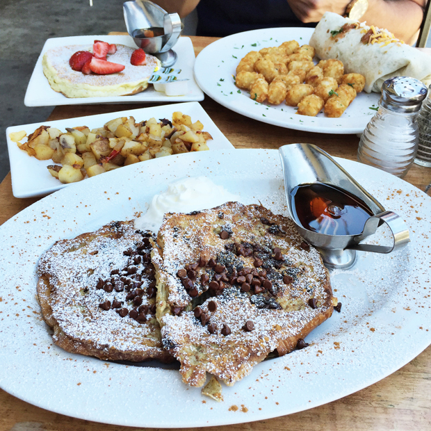 Jack n' Jill's Too in Beverly Hills | Chocolate Chip Croissant French Toast | StyledbyBlondie.com