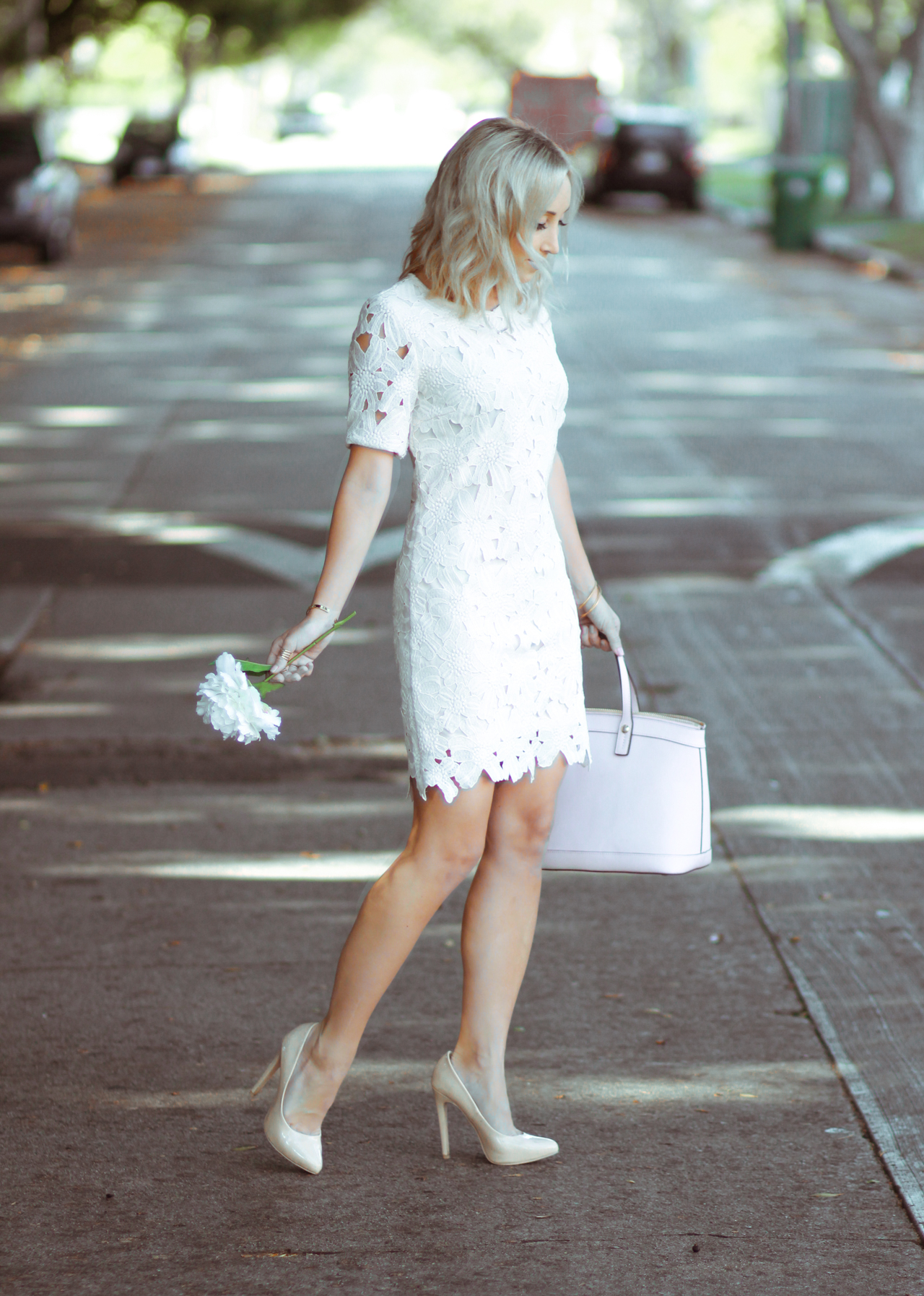 Bush Pink Floral Embroidered Dress | StyledByBlondie.com