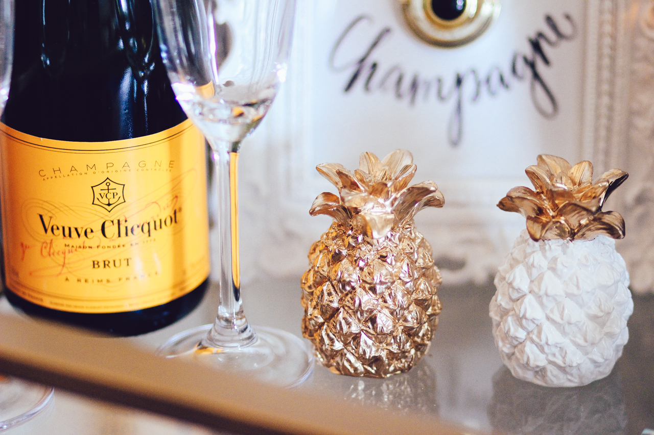 Pineapple Decor / Bar Cart Styling | StyledByBlondie.com