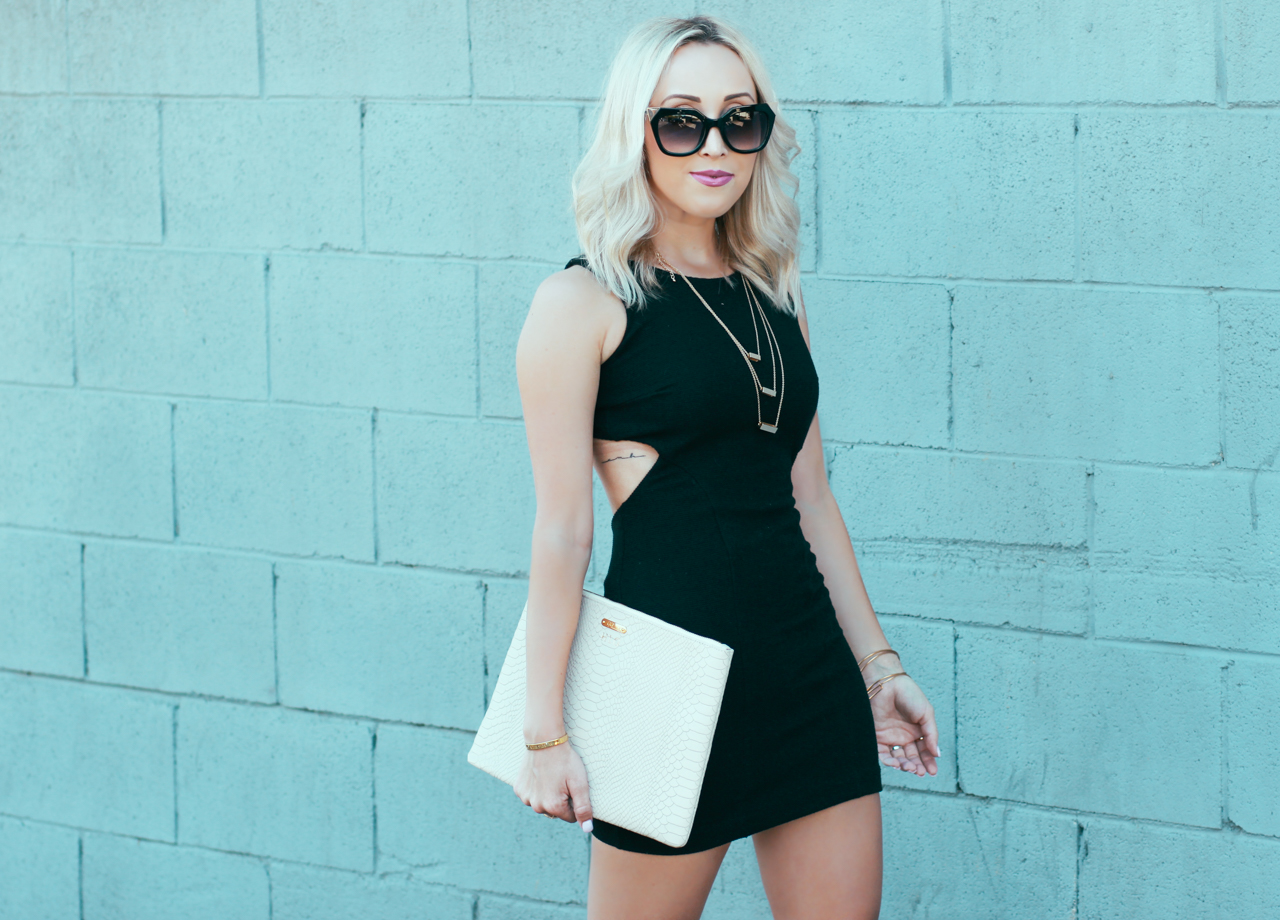Black Cut-out Bodycon Dress | StyledByBlondie.com