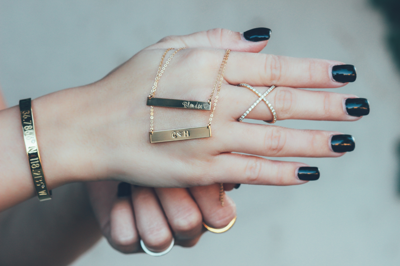 Gold Bar Necklaces by Layered & Long | StyledByBlondie.com