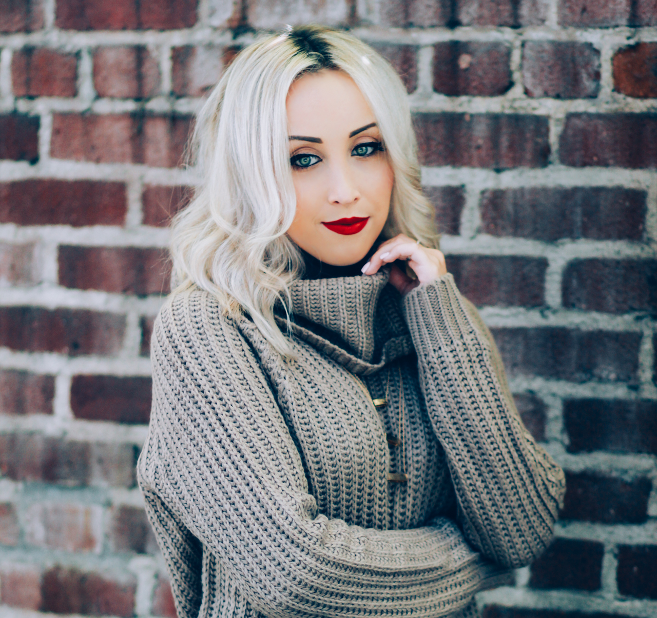 Turtleneck Knit Sweater for Fall | StyledByBlondie.com