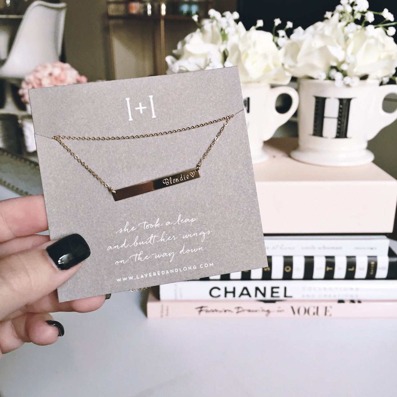 Personalized Gold Bar Necklace | StyledByBlondie.com