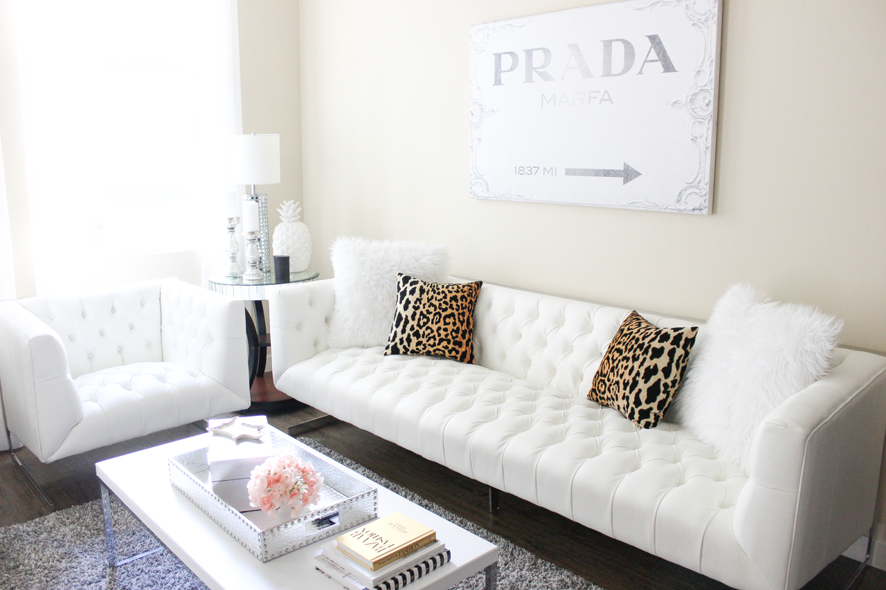 @ZGallerie White Skyler Sofa - Living Room Decor | StyledByBlondie.com