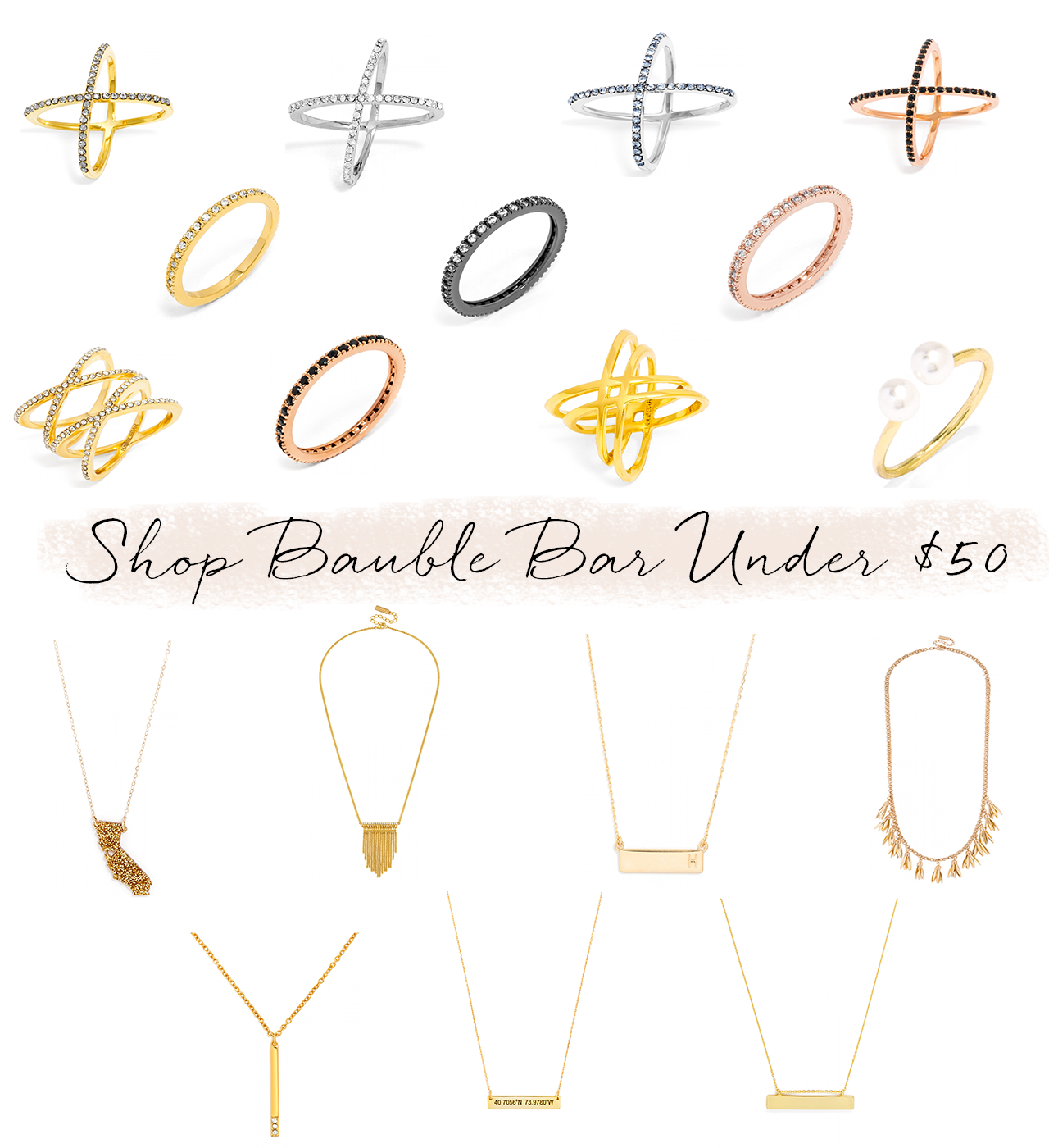 Shop Bauble Bar for under $50 AND get 30% off! Details at StyledByBlondie.com