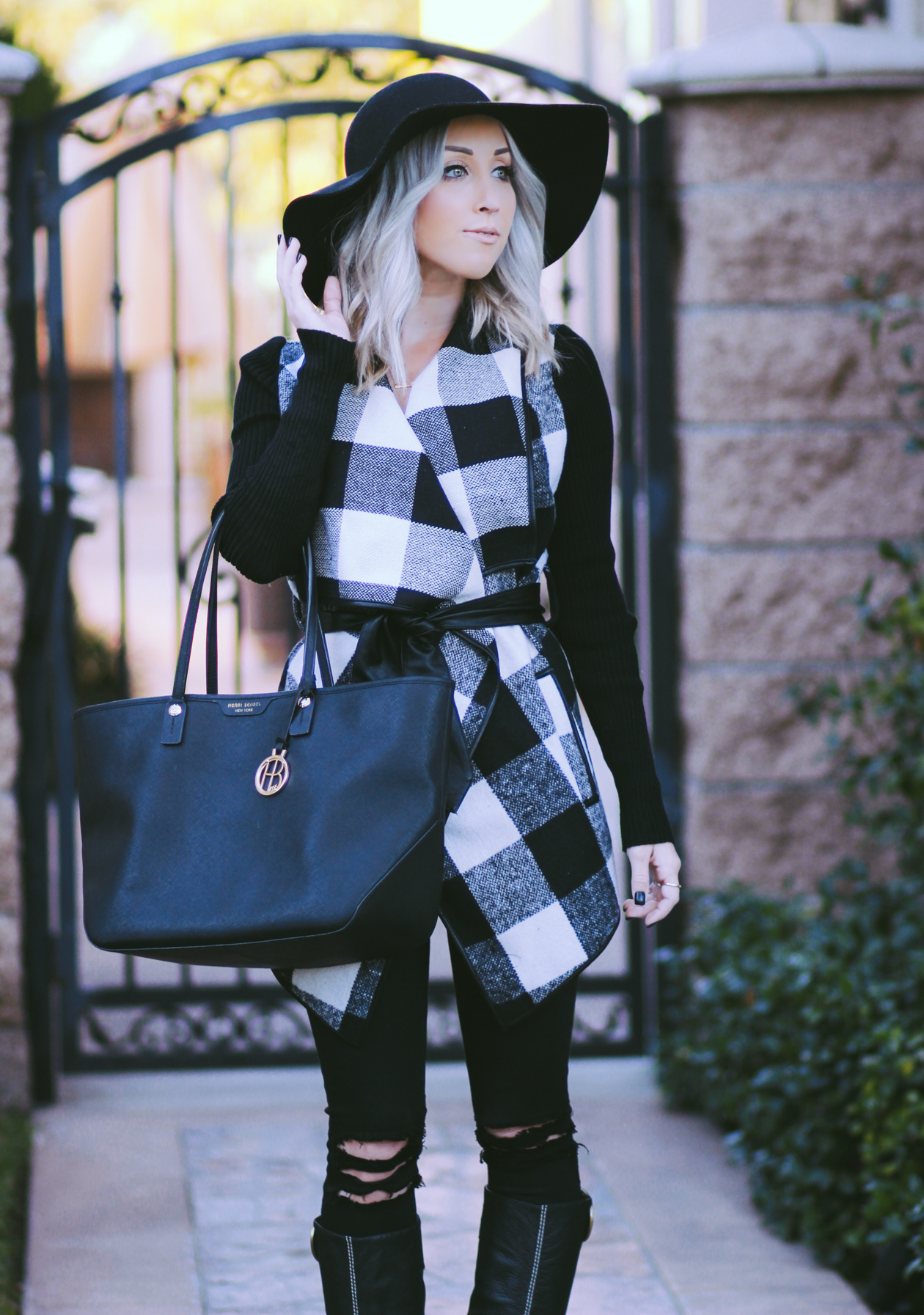 Plaid Coat | StyledByBlondie.com