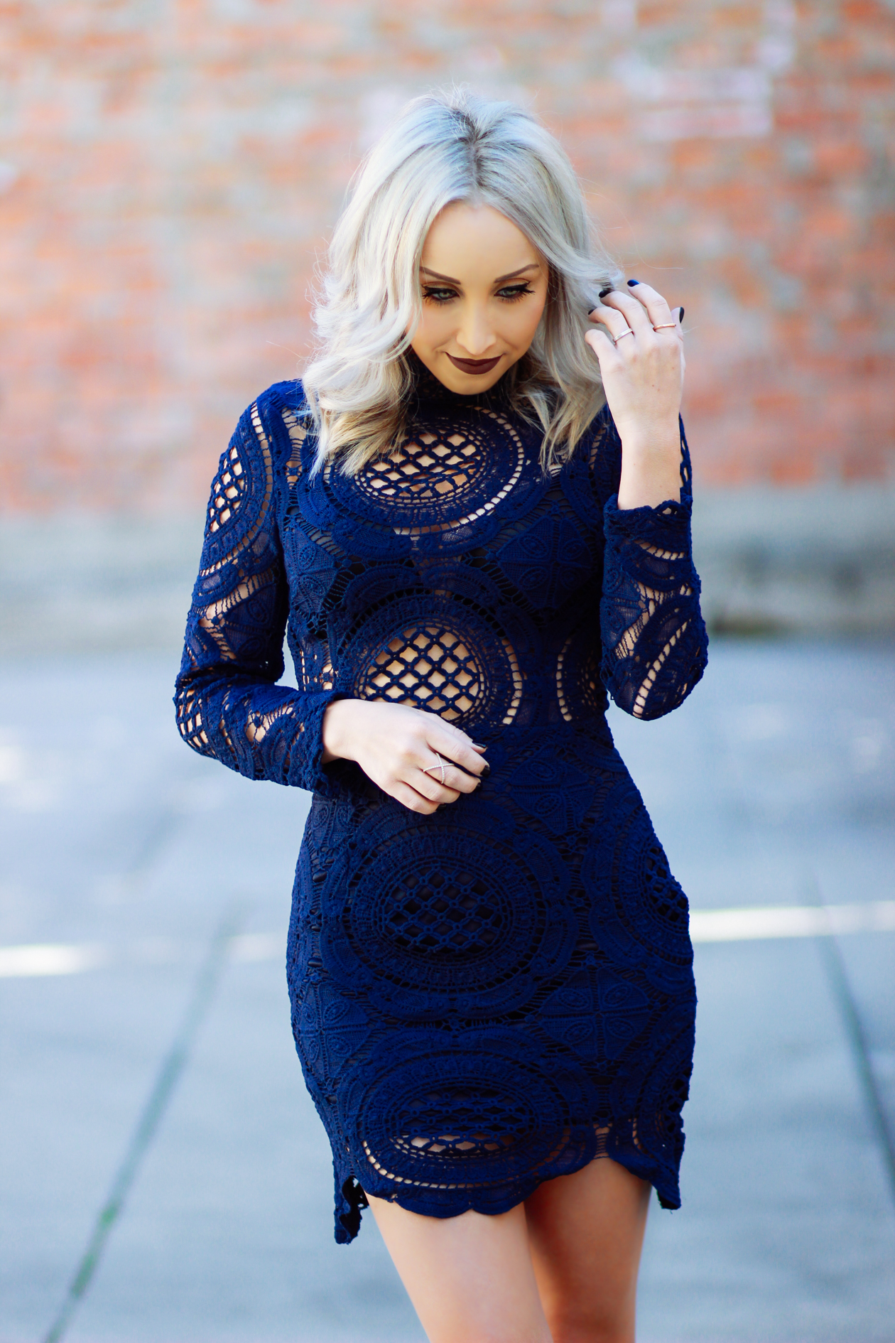 Royal Blue Lace Dress | StyledByBlondie.com