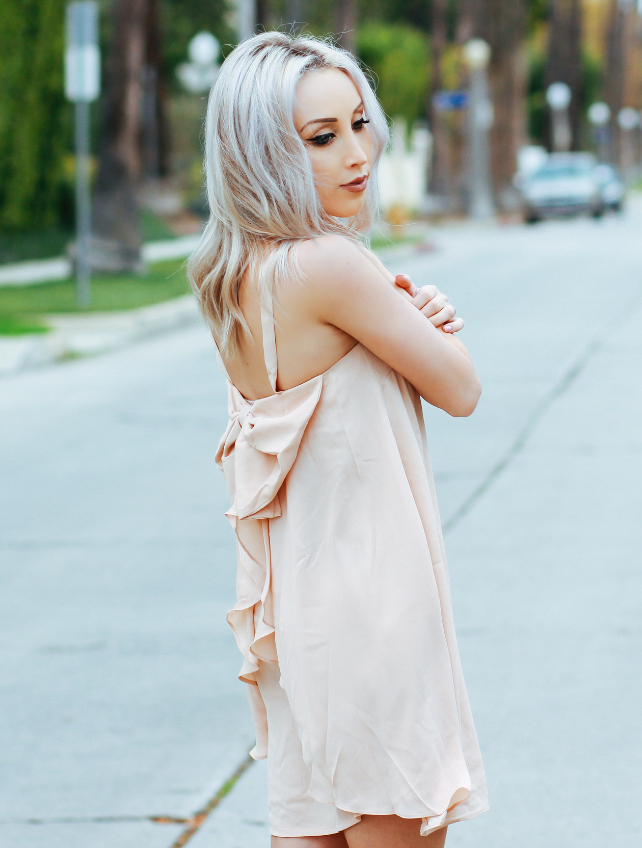 Pink Bow Dress | BlondieInTheCity.com