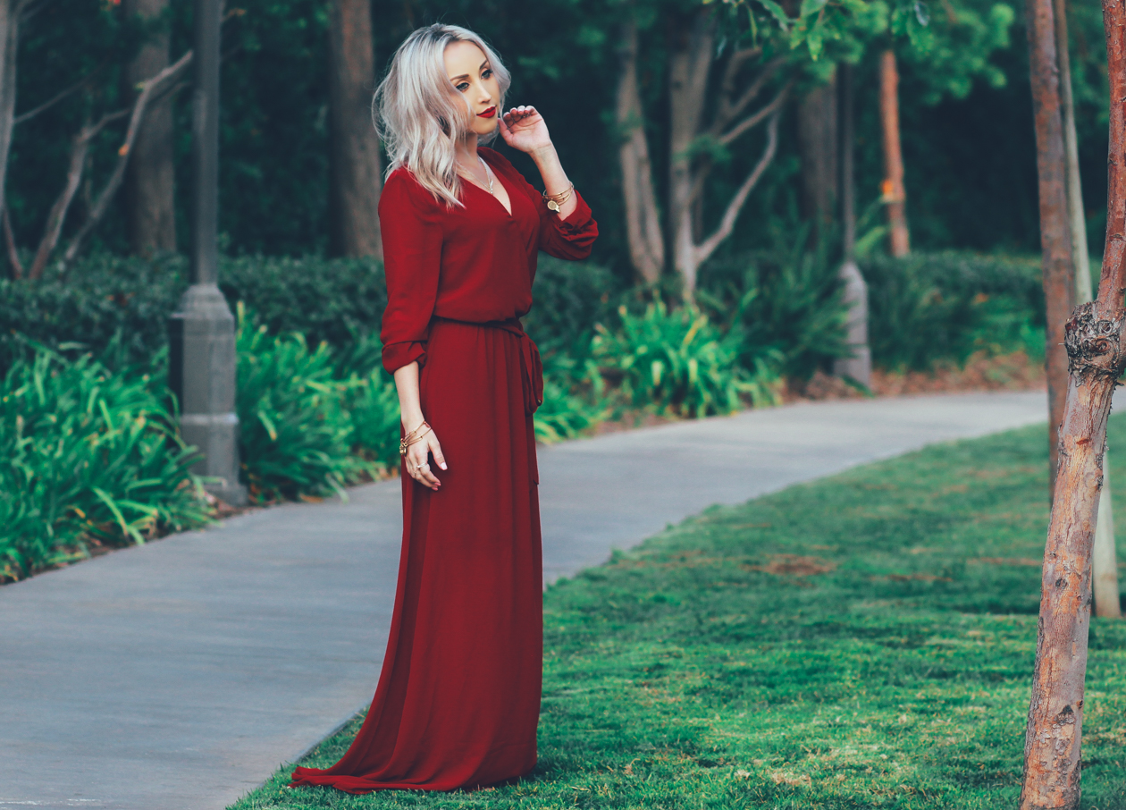 Red-Chiffon-Dress-Bohemian-Style-4