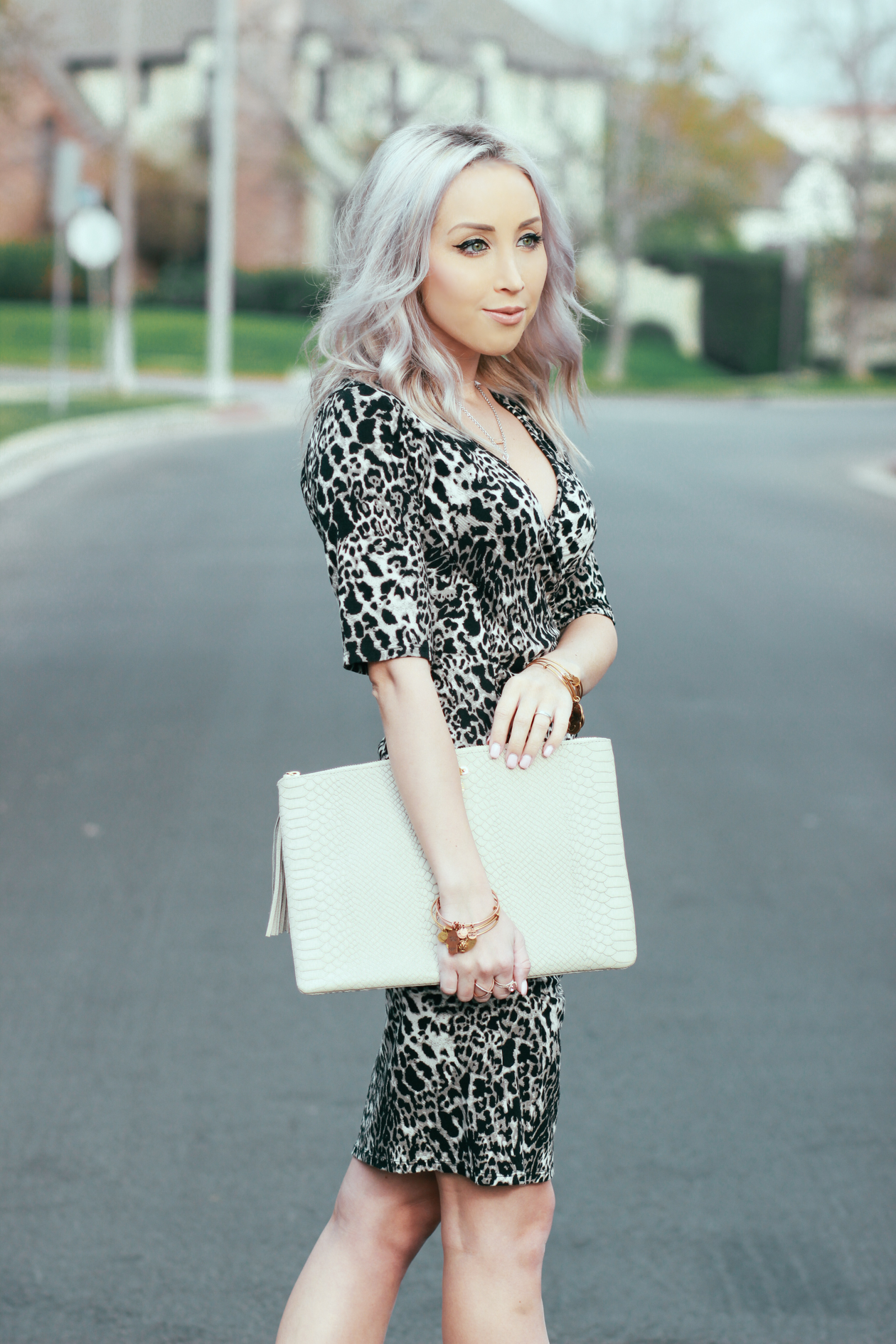 Leopard Wrap Dress | BlondieInTheCity.com