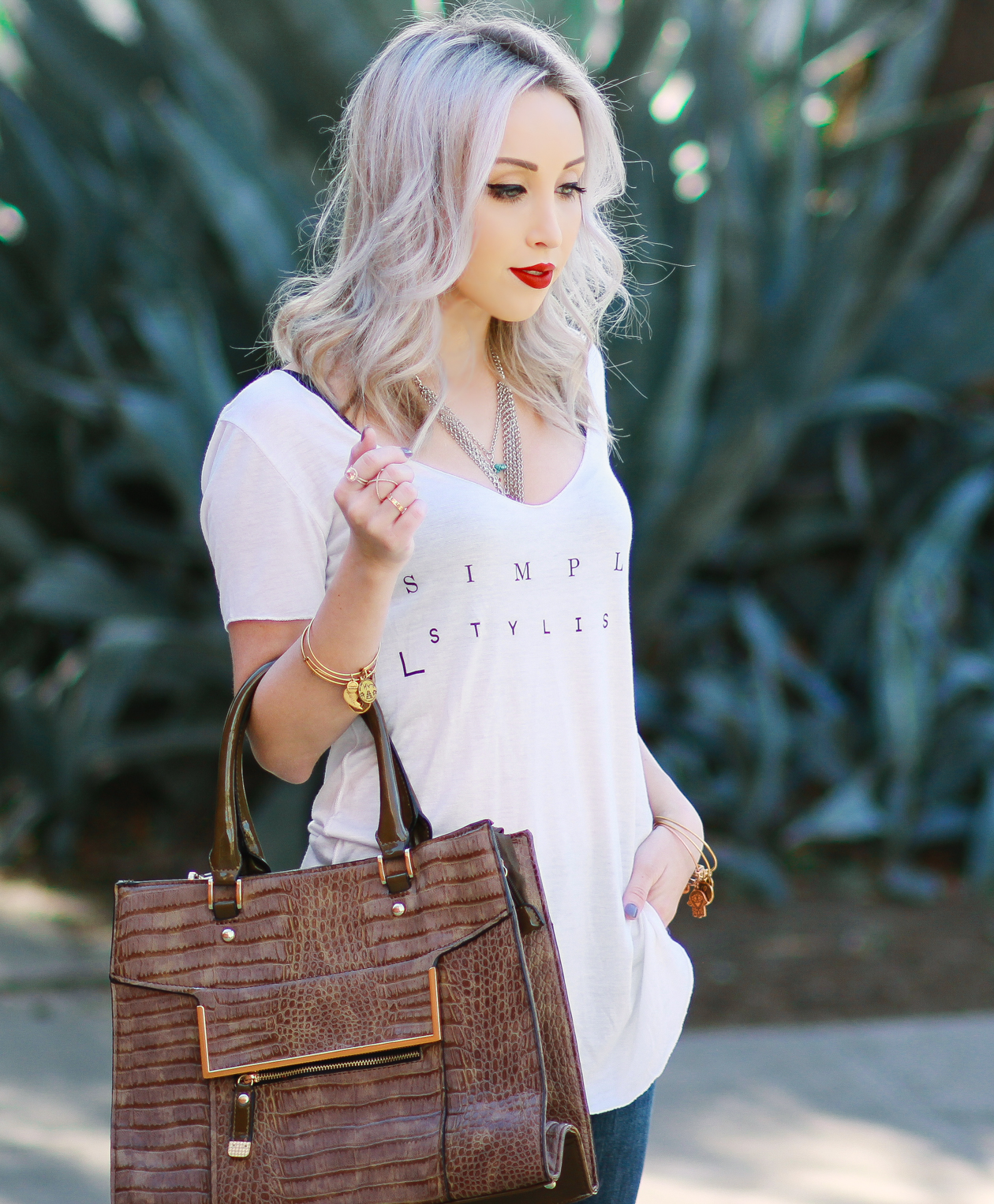 Simply Stylish with @anglclothing | Casual Style with Red Heels | BlondieintheCity.com