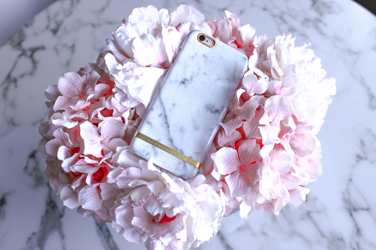 White Marble Phone Case by @richmondfinch