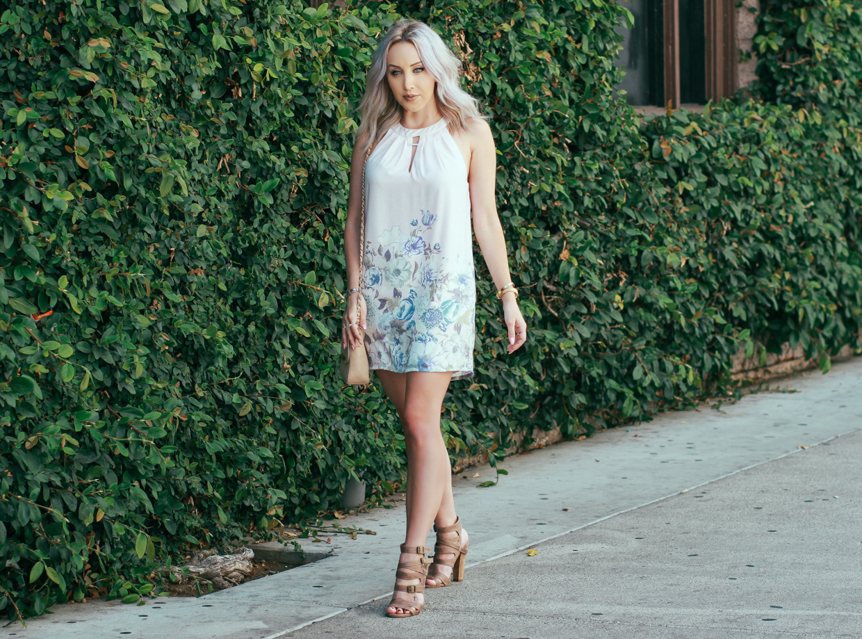 Blondie in the City | Pastel Halter Dress To Lighten Up Your Wardrobe | Floral Halter Dress | @forever21