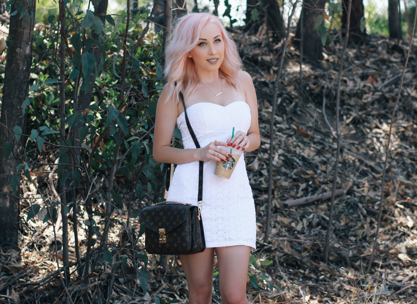 Blondie in the City | Pastel Pink Hair | Life Is Too Short To Have Boring Hair | White Summer Dress
