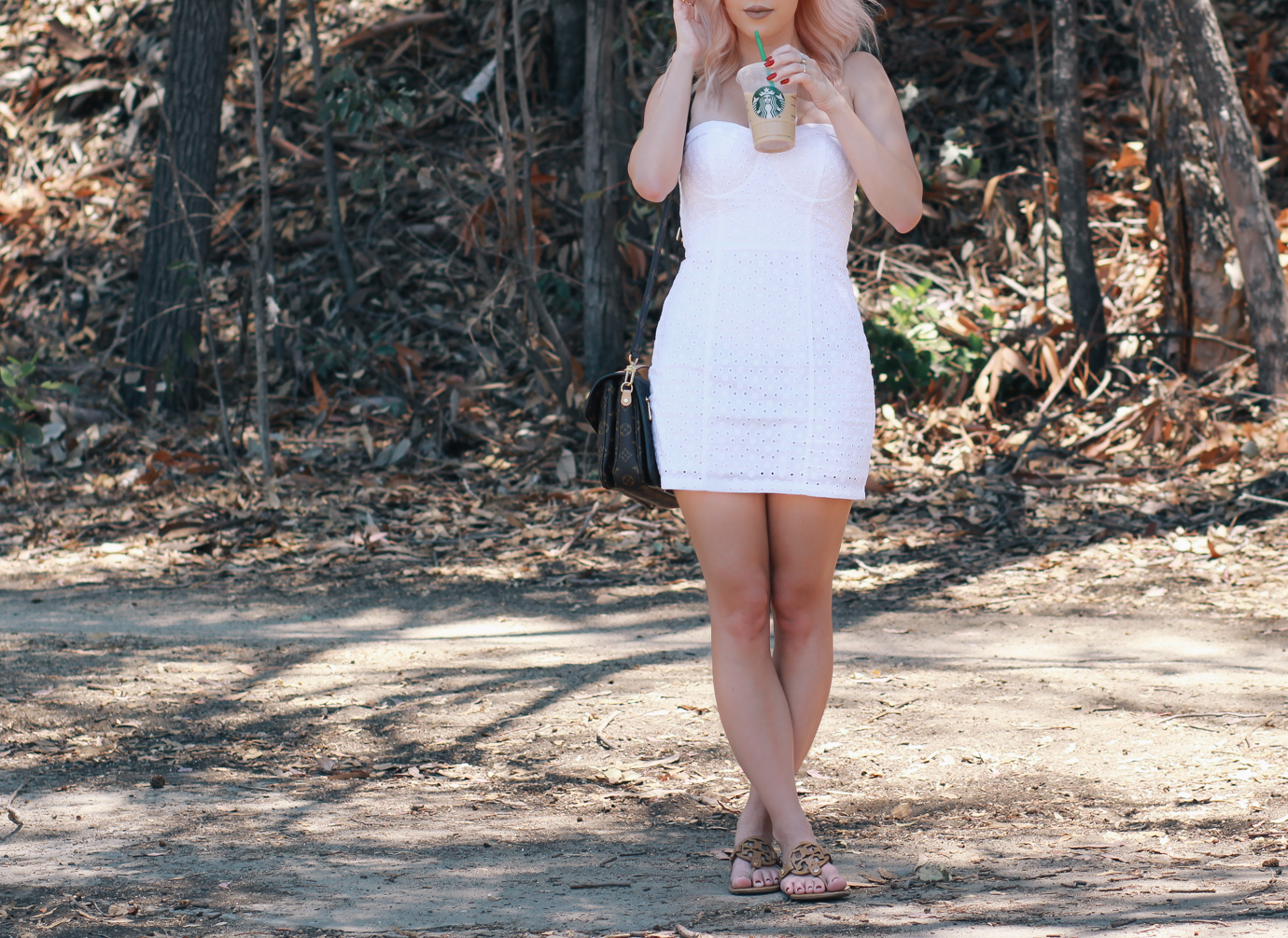 Blondie in the City   Pastel Pink Hair   Life Is Too Short To Have Boring Hair   White Summer Dress