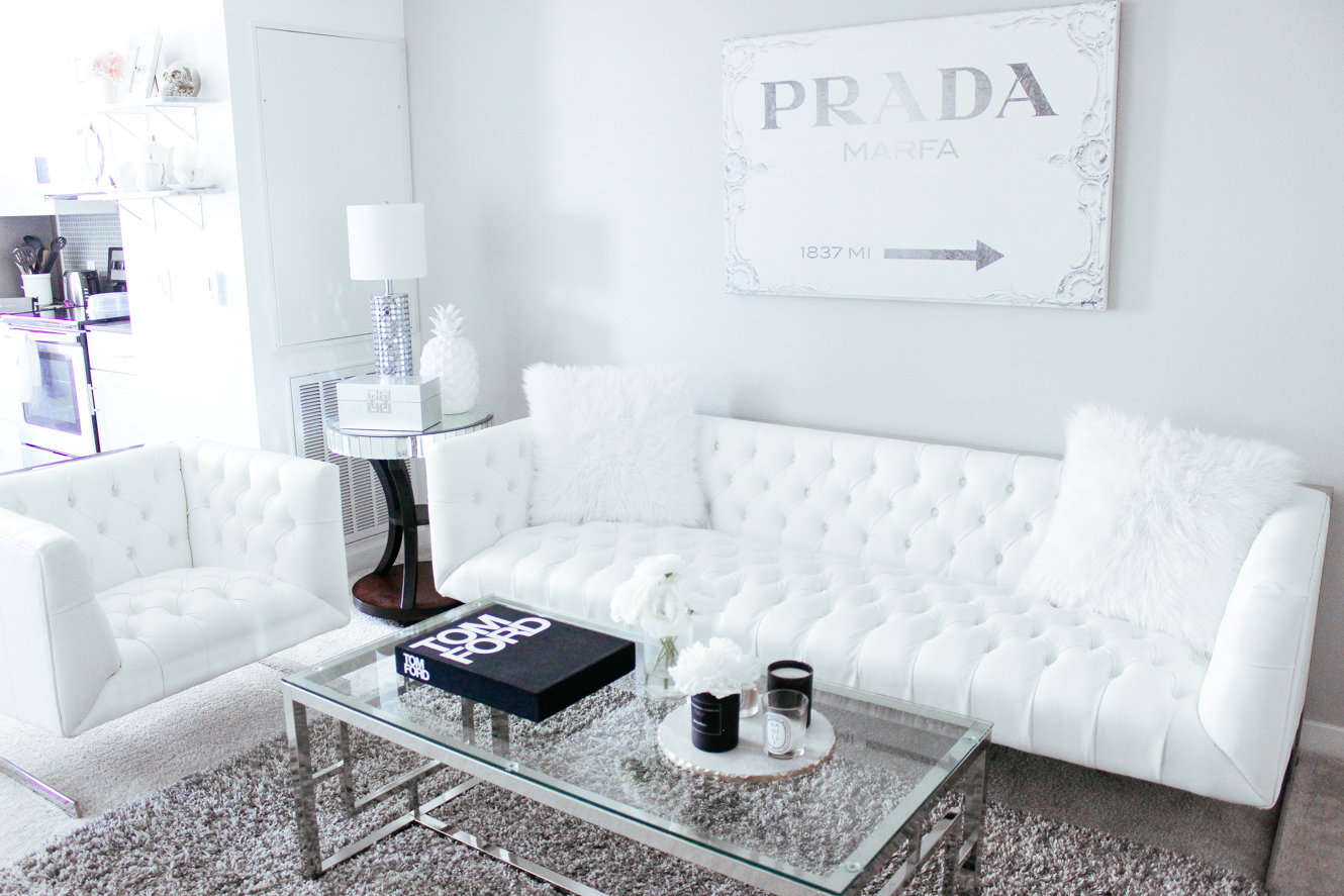 My black white living room blondie in the city White home design ideas