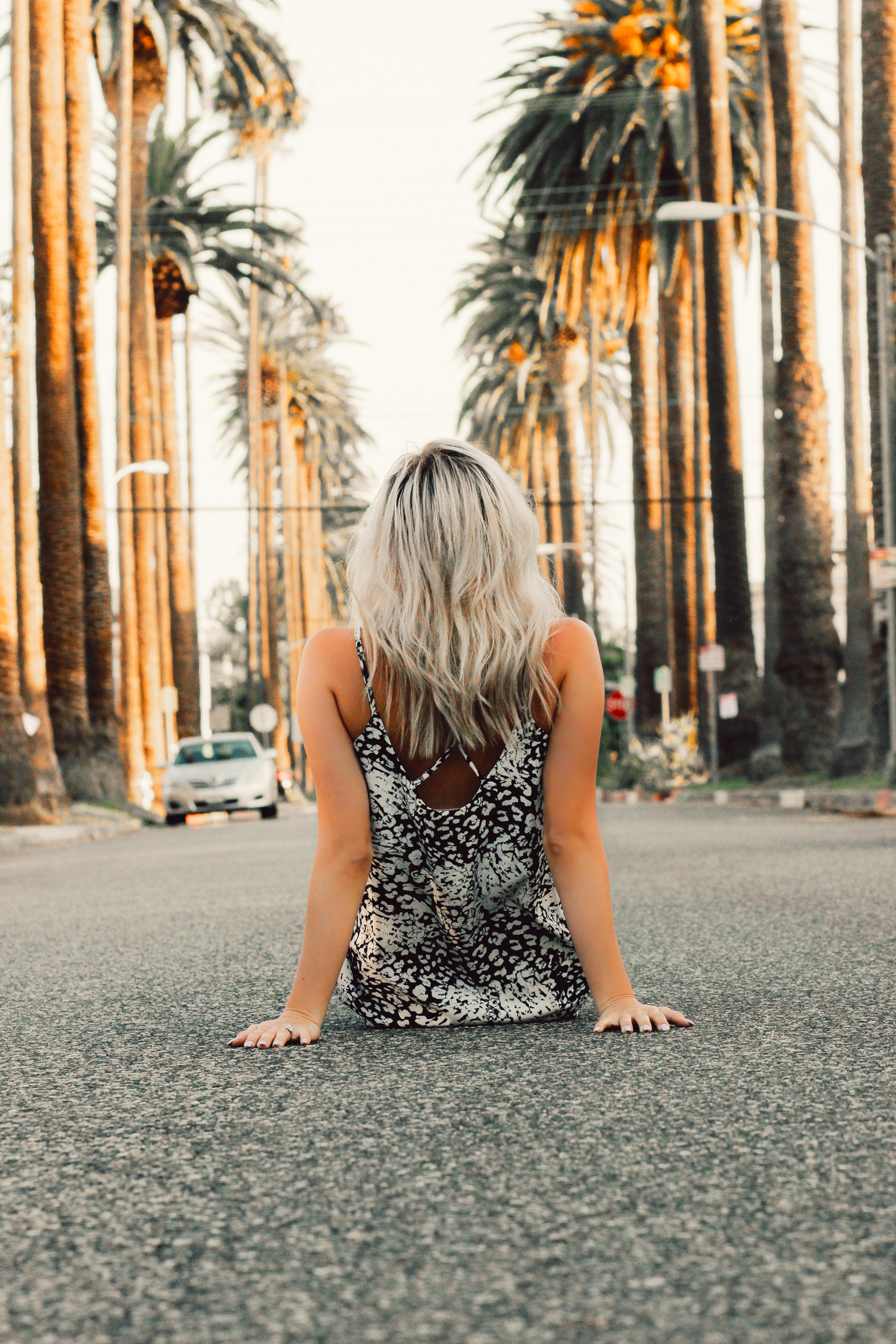 Blondie in the City | Palm Trees in Beverly Hills, Palm Trees, LA Palm Trees, Street of Palm Trees | Long printed maxi