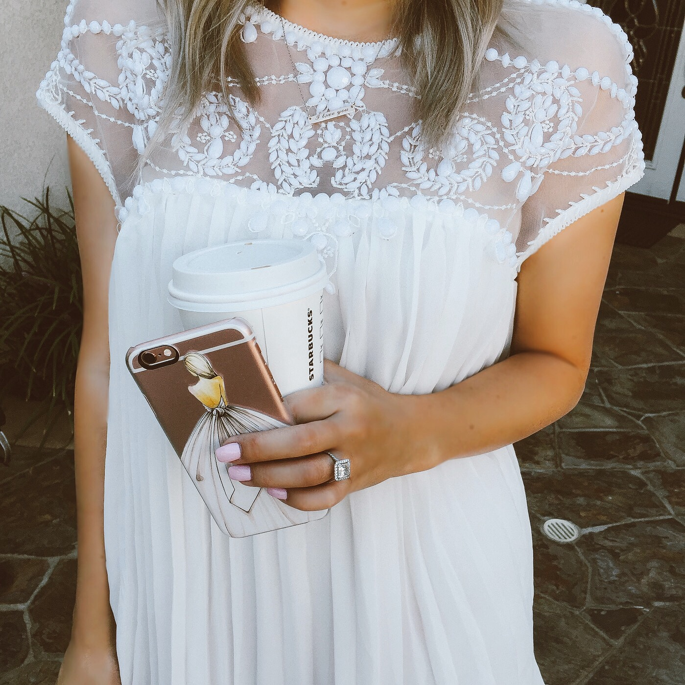 Blondie in the City | White Beaded BabyDoll Dress @Chicwish | Bride To Be