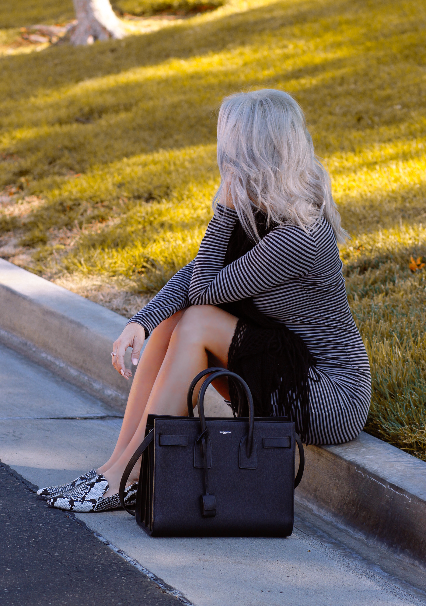 Blondie in the City   Button Down Bodycon Dress @Justfabonline   Snake Loafers @nakdfashion 20% off with code Hayley20