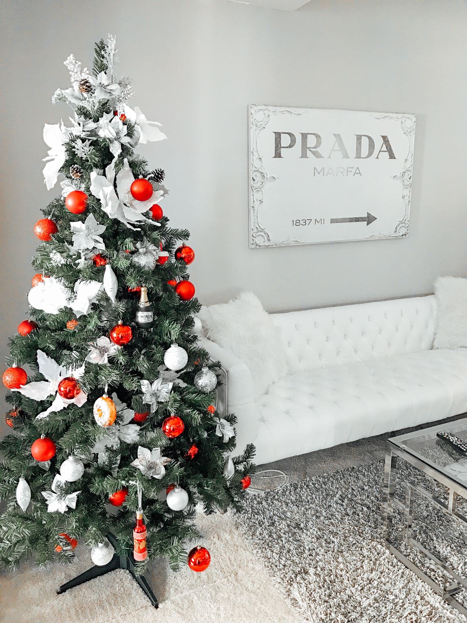 Blondie in the City | Christmas Decor | Red and White Christmas Decor | Holiday Decor