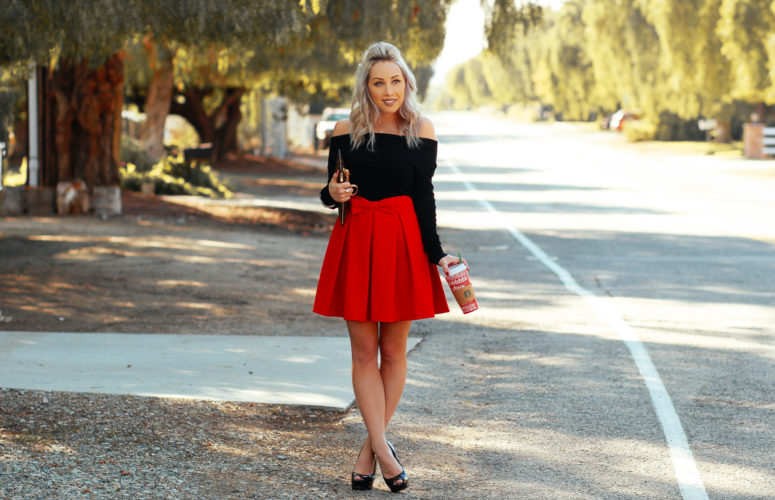 Red Holiday Skirt