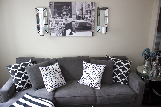 white gray apartment decor