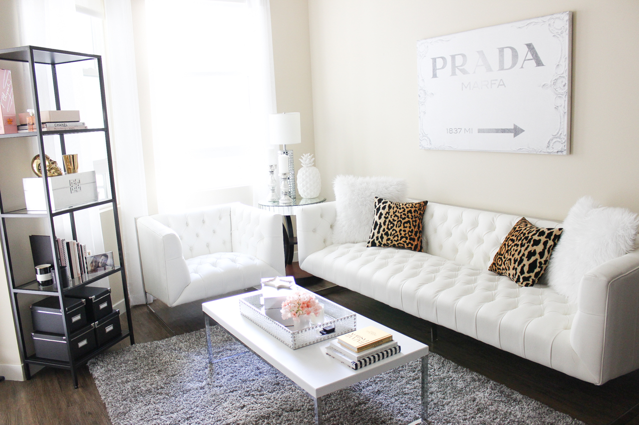 white couch living room apartment update 2015 blondie in the city 12219