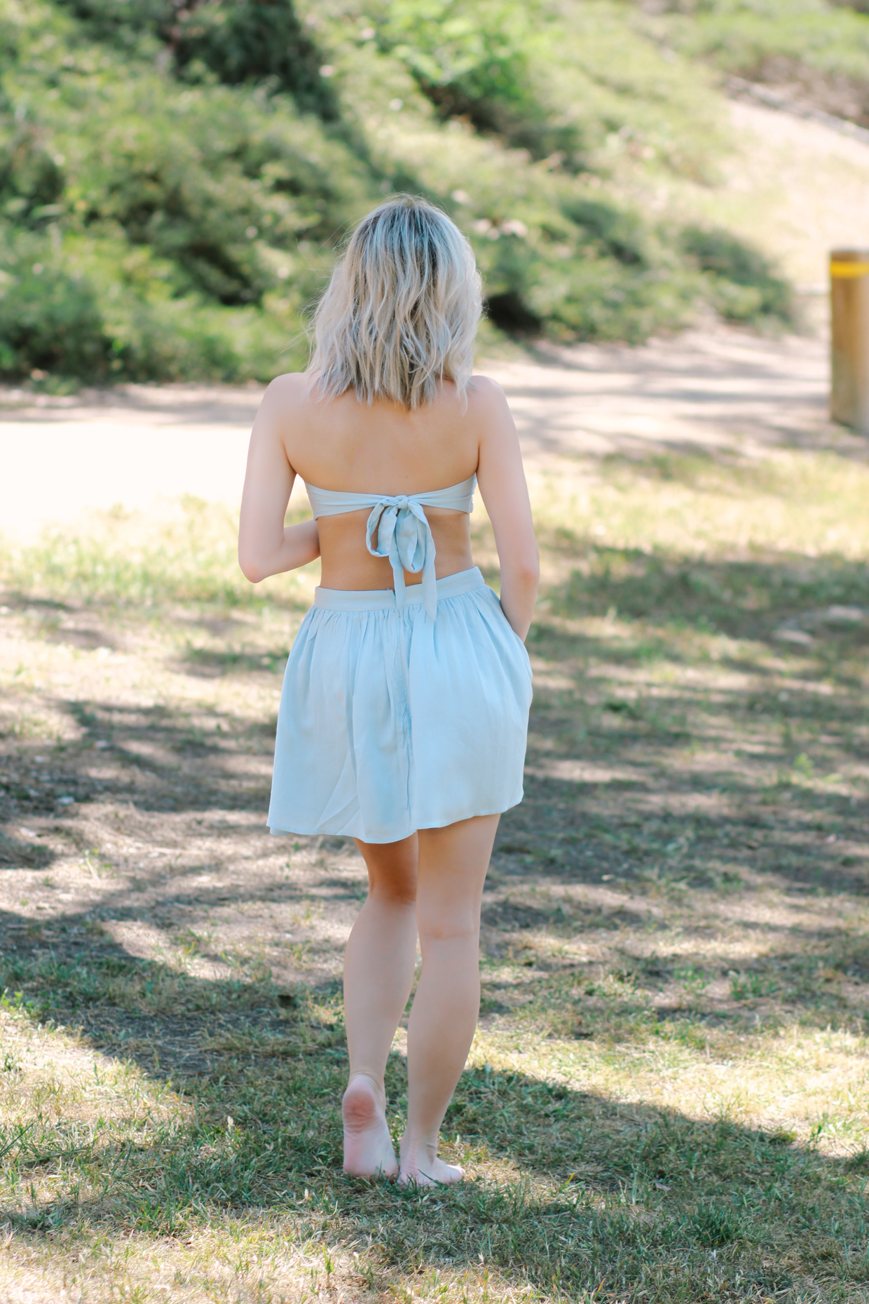 1ead8561776f ... Blondie in the City | Baby Blue Bandeau and Skirt Set from @shoptobi |  Summer ...