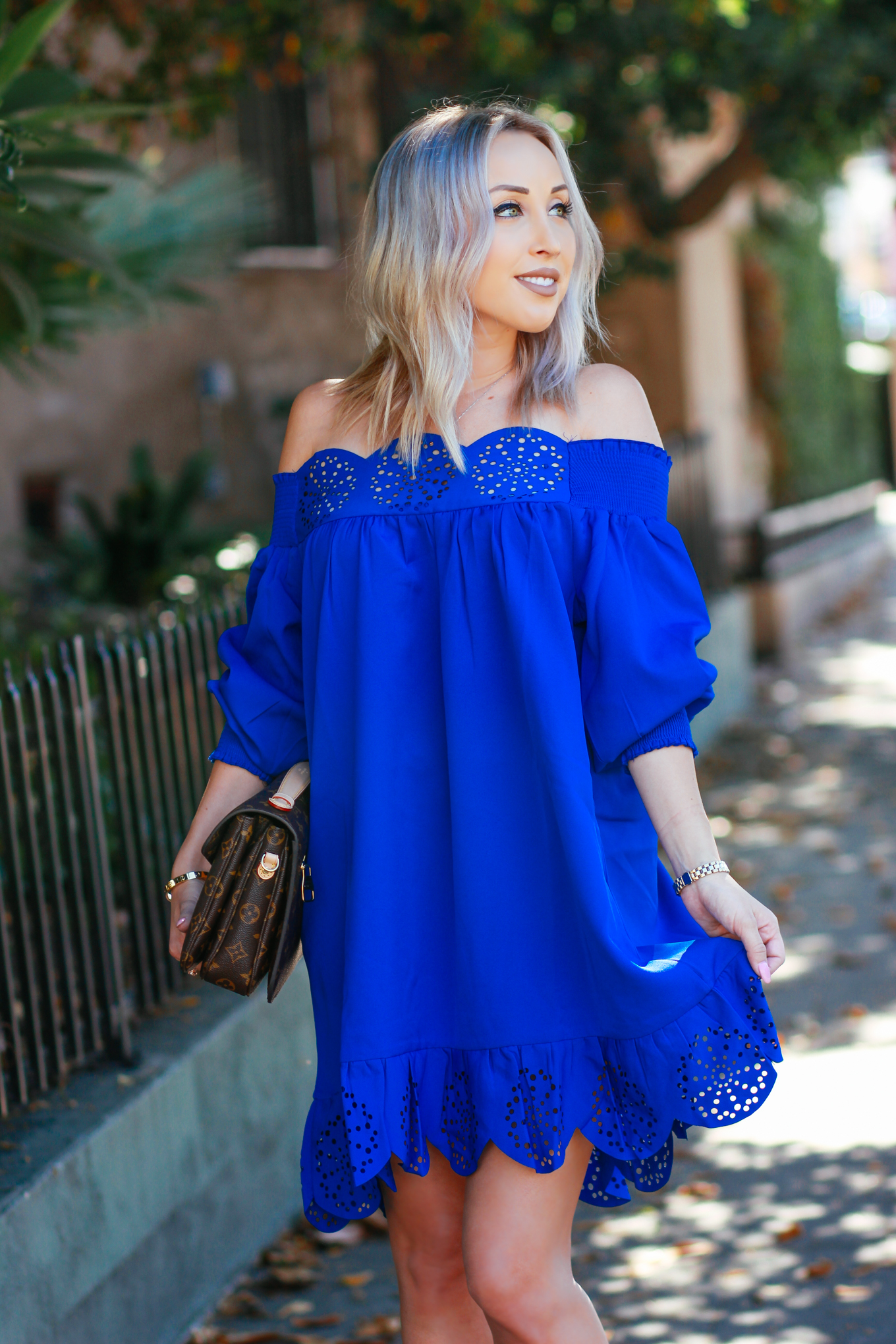 ec08ae35879a Bright Blue Summer Dress